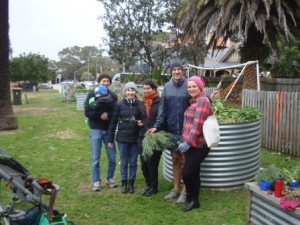 Team July working bee - cold but beaming