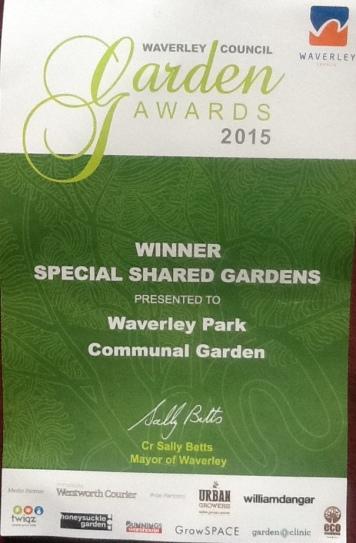 Garden certificate